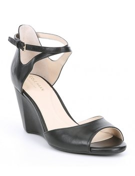 Sadie Leather Wedge Sandals by Cole Haan