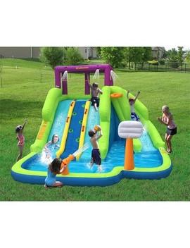 Kahuna Triple Blast Kids Outdoor Inflatable Splash Pool Backyard Water Slide by Kahuna
