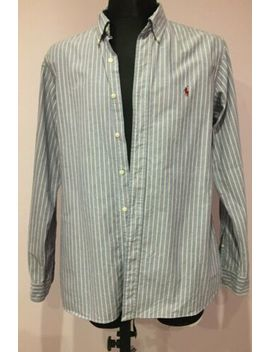 Men's Polo Ralph Lauren Custom Fit Size L  Button Up Shirt Striped by Polo Ralph Lauren