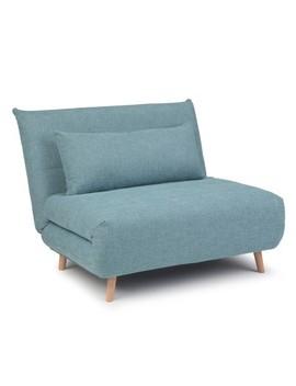 Gallo Roll Out Sofa Bed Dark Cyan Linen Look Fabric   Wyndenhall by Wynden Hall