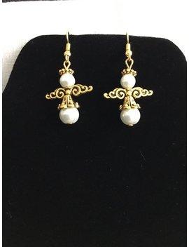 Gold Angel Earrings Christmas Angel Earrings Angel Jewelry Christmas Jewelry Angel Gifts Christmas Angels Holiday Earrings Holiday Jewelry by Etsy