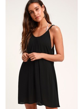 Carter Black Swim Cover Up by Lulus