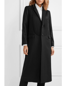 Pintucked Wool Gabardine Coat by Noir Kei Ninomiya