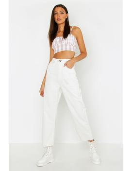 Tall Cord Cropped Wide Leg Jeans by Boohoo