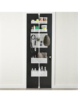 White Elfa Door & Wall Rack by Container Store