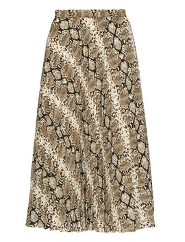 Petite Snake Print Pleated Midi Skirt by Banana Repbulic