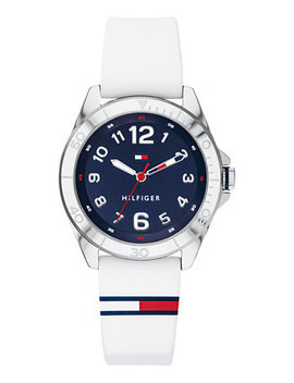 Men's Communion White Silicone Strap Watch 34mm by Tommy Hilfiger