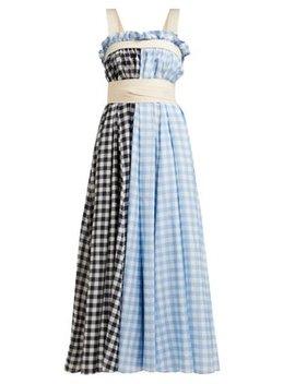 Clara Gingham Cotton Blend Apron Dress by Lee Mathews