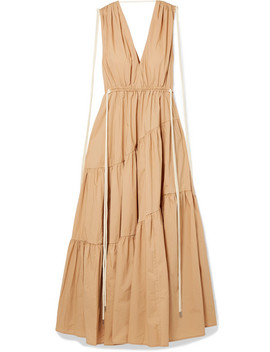 Tiggy Tiered Cotton Poplin Maxi Dress by Lee Mathews