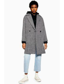 Herringbone Coat by Topshop
