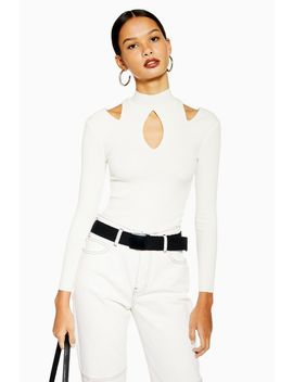 Cut Out Long Sleeve Top by Topshop