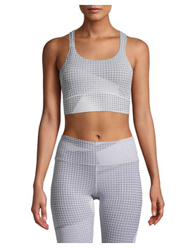Breathelux Jacquard Mesh Racerback Sports Bra by Under Armour
