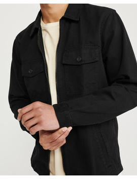 Zip Front Shirt Jacket by Abercrombie & Fitch