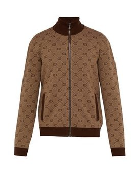 Gg Jacquard Wool Blend Track Jacket by Gucci