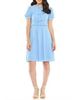 Ellie Puff Sleeve Bow Front Dress by Gal Meets Glam