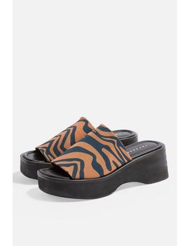 Heat Leopard Chunky Mules by Topshop