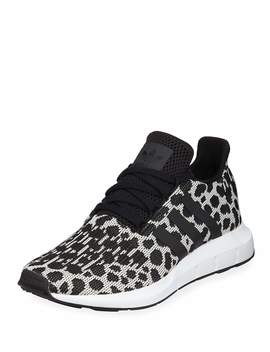 Swift Run Cheetah Print Trainer Sneakers by Adidas
