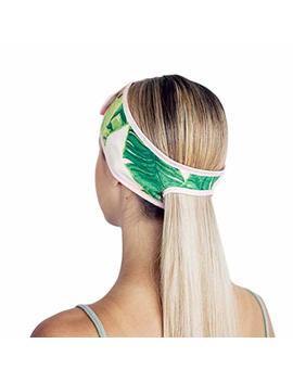 Kitsch Spa Headbands For Women  Makeup Headband, Headbands For Washing Face And Facial Headband With Ponytail (Palm Leaves) by Kitsch