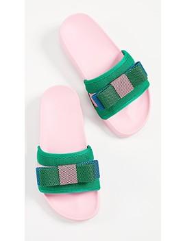 Colorblock Ribbon Sandals by Suecomma Bonnie