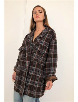 Vintage Unisex Blazers Coat Checkered In Wool by Non Aprire Quell Armadio