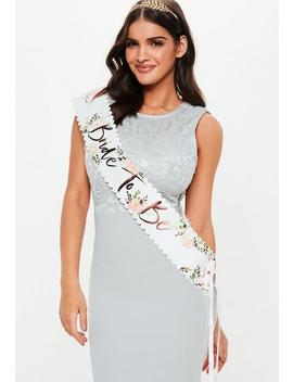 Rose Gold Bride To Be Sash by Missguided