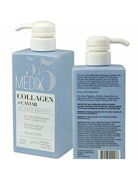 Medix 5.5 Collagen Cream With Caviar. Anti Aging Moisturizer. Firms And Tightens For Younger Looking Skin. Anti Aging Cream Infused With Peptides, Aloe... by Medix 5.5