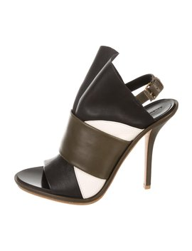 Leather Ankle Strap Sandals by Balenciaga