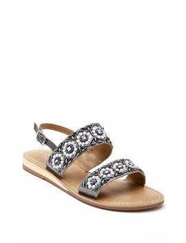 Chica Beaded Slingback Demi Wedge Sandal by Matisse