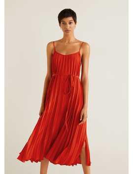 Sukienka Midi Plisowana by Mango