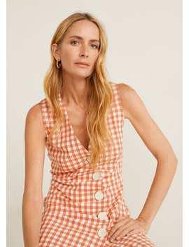 Sukienka Z Teksturą W Kratkę Vichy by Mango