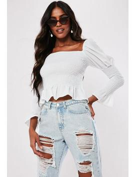 White Bardot Milkmaid Top by Missguided