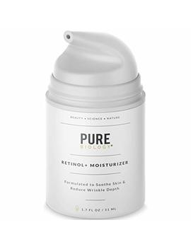 Premium Retinol Cream Face Moisturizer With Hyaluronic Acid, Vitamin A, B, C & E, Argan Oil & Breakthrough Anti Aging Complexes – Face And Eye Skin... by Pure Biology