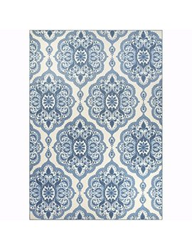 Maples Rugs Area Rugs   Vivian 7 X 10  Large Area Rugs [Made In Usa] For Living Room, Bedroom, And Dining Room, Blue by Maples Rugs
