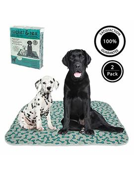 Rocket & Rex Washable, Reusable, Pet Training And Puppy Pads. Waterproof, Leak Proof And Absorbent. Whelping, Incontinence, Travel, Bed Wetting, Mattress Protector. by Rocket & Rex