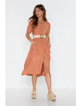 Good Day Sunshine Button Down Midi Dress by Nasty Gal