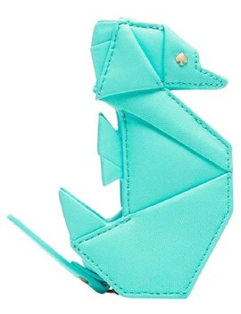 Atoll Blue Origami Seahorse Leather Coin Purse Breath Of Fresh Air Wallet by Kate Spade