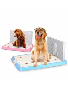 Indoor Pet Dog Puppy Potty Tray With Pee Post Protection Simulation Wall, No Torn Puppy Pad Dog Toilet For Male/Boy Puppies And Large Dogs by P Pzone