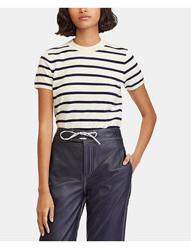 Striped Short Sleeve Sweater by Polo Ralph Lauren