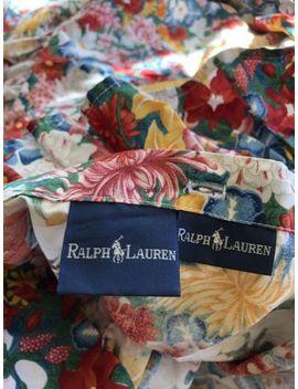 """Ralph Lauren """"Thousand Flowers"""" Ruffled King Duvet Excellent Cond Blue Label by Ralph Lauren"""