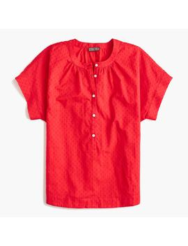 Point Sur Short Sleeve Popover Shirt In Cotton Dobby by J.Crew