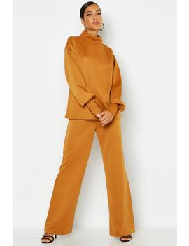 Oversized Sweat & Wide Leg Trouser Tracksuit by Boohoo
