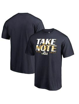 Utah Jazz Fanatics Branded Take Note Hometown Collection T Shirt   Navy by Fanatics Branded