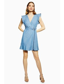 Flute Belted Denim Dress by Topshop