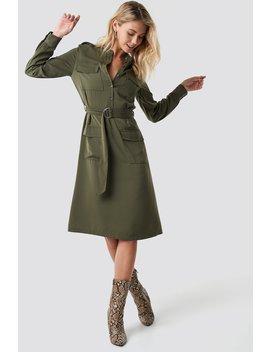 Pocket Detail Belted Shirt Dress by Na Kd Trend