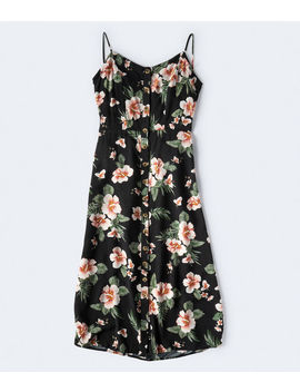 Printed Button Front Midi Dress by Aeropostale