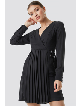 Pleated Front Midi Dress by Trendyol