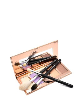 The Highlighter And Brush 4 Piece Kit by Crown Brush