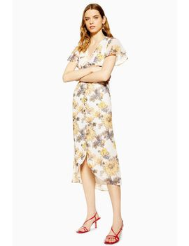 **Button Front Midi Dress By Hope & Ivy by Topshop