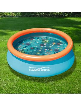3 D Quick Set 7 Ft. Round Family Pool by Blue Wave