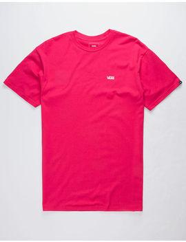 Vans Logo Chest Pink Mens T Shirt by Vans